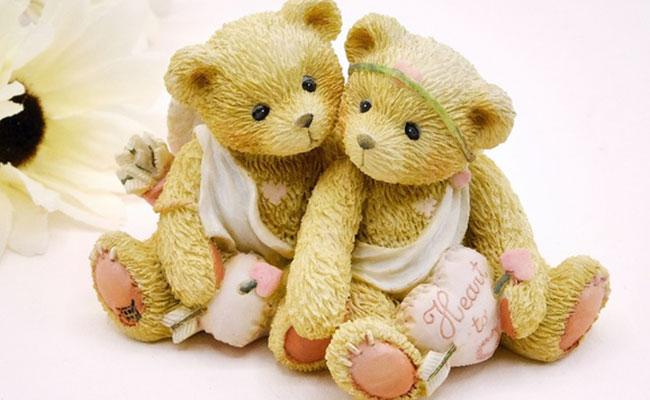Couple Teddy Bears for teddyday gift