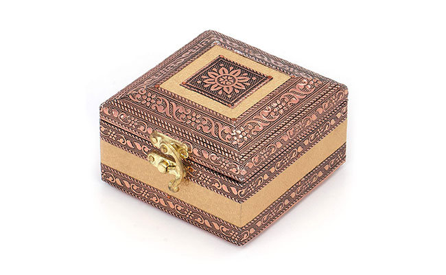 Wooden jewellery box for mother in law