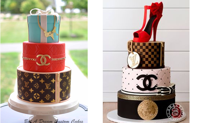 Louis Vuitton/ Chanel Cake