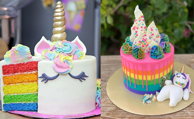 Unicorn Rainbow Cake