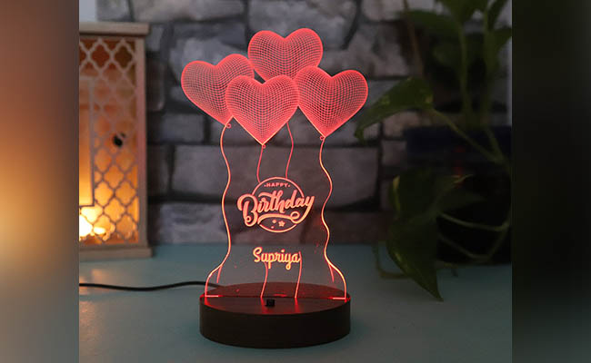 Hearty Birthday Customised Lamp For Wife