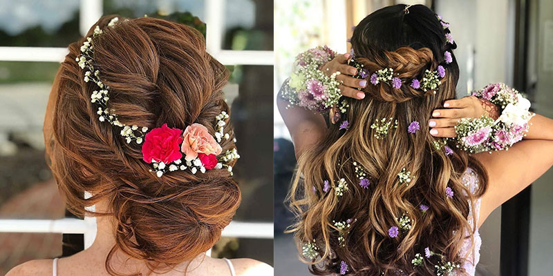 5 Easy & Quick Flower Hairstyles for weddings