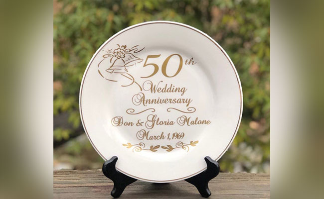 Gold Anniversary Plate
