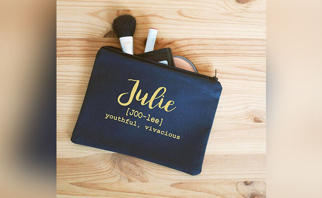 Personalised Makeup Pouch
