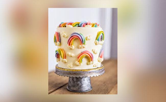 Buttercream Rainbow Birthday Cake