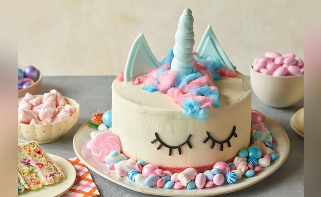 Unicorn Buttercream Design Birthday Cake