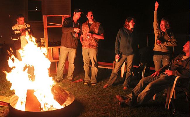 Bonfire at the Backyard