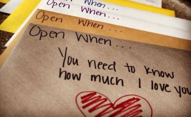 open when letters gifts