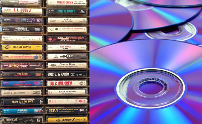 Music CDs/ DVDs/ Cassettes
