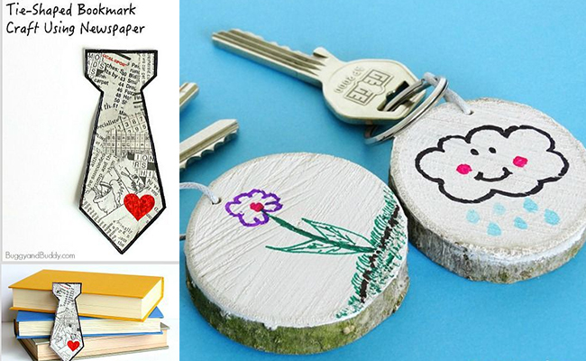 DIY KeyChains/ Book Marks At Home