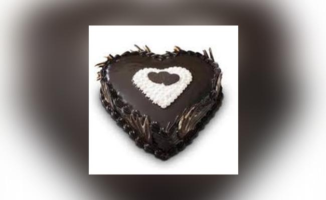 Heart-shaped Chocolate Truffle Cake