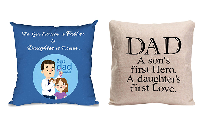 Father- Daughter Photo Cushion
