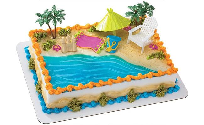 Beach-Theme Cake