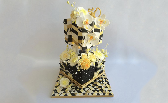 Heavenly Floral Anniversary Cake