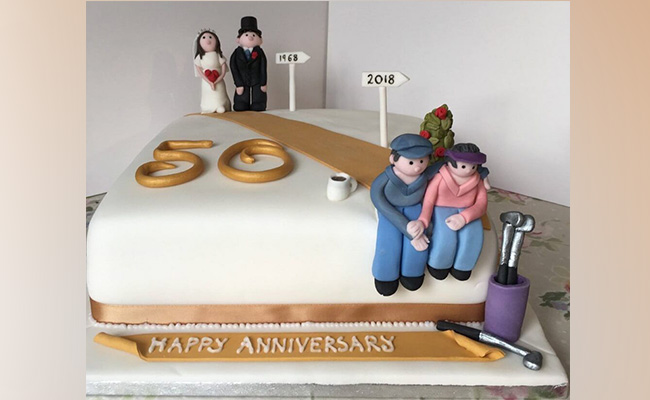 The Journey Anniversary Cake