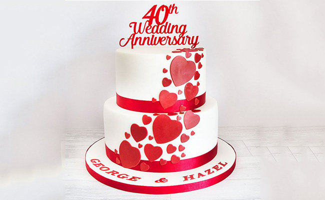 Two-Tier Gorgeous Anniversary Cake