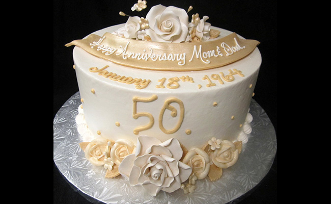 Floral Delight Anniversary Cake