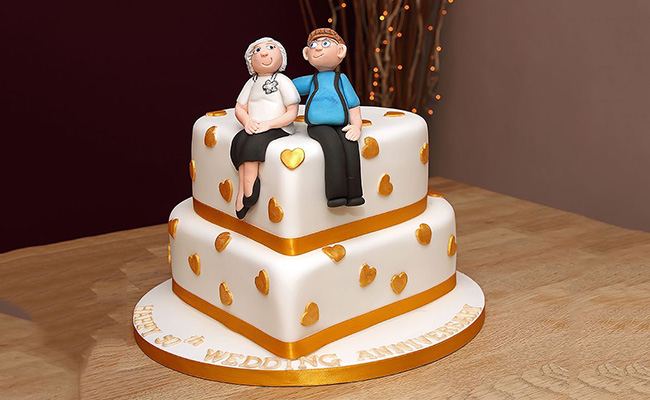 Forever Together Anniversary Cake