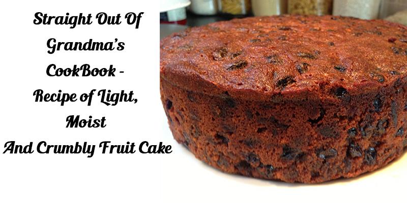 homebaked fruit cake