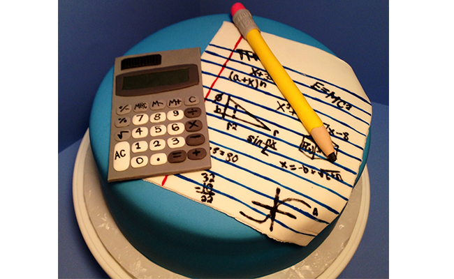Mathematical themed cake