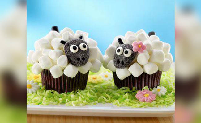 Sheep Cupcakes Decoration