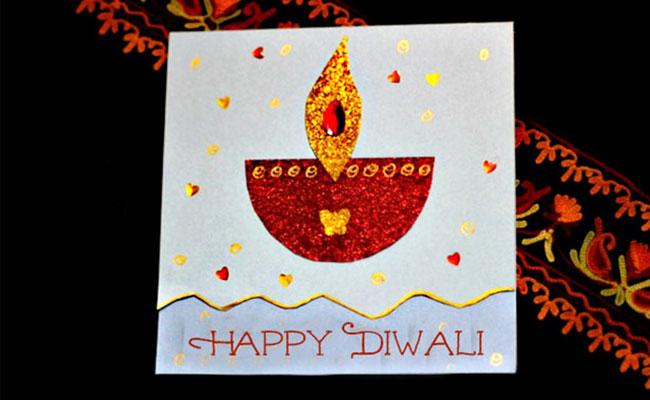 Handmade Diya Greeting Card