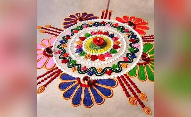 Floral Design Rangoli
