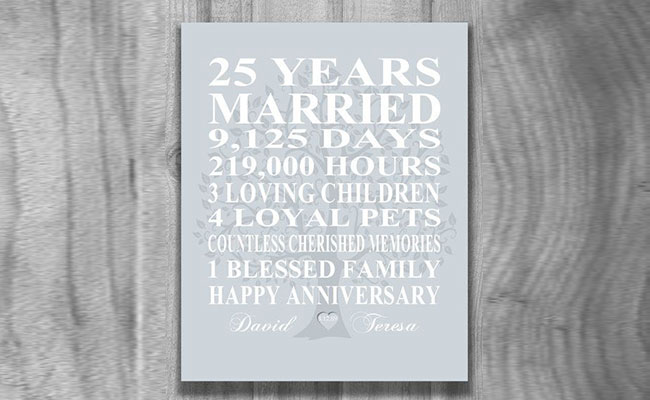 25th Wedding Anniversary Gift For Parents Best Gift For Parents 25th Wedding Anniversary