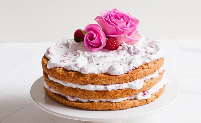 Apple Raspberry Layer Cake