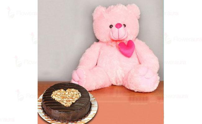 Cake and Teddy Bear