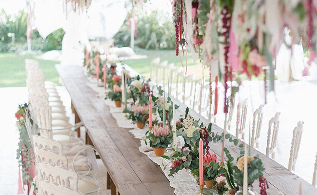 Amaranthus Wedding Arrangements