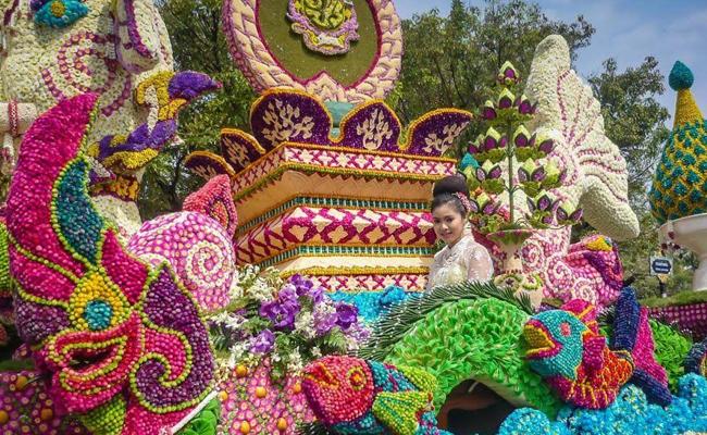 Chiang Mai Flower Festival in Thailand