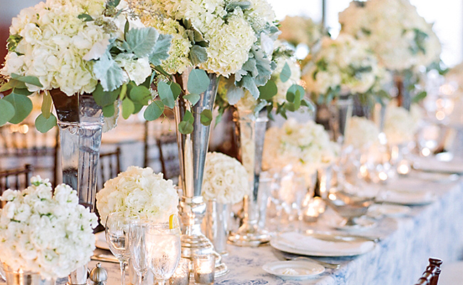 Hydrangea Wedding Arrangements