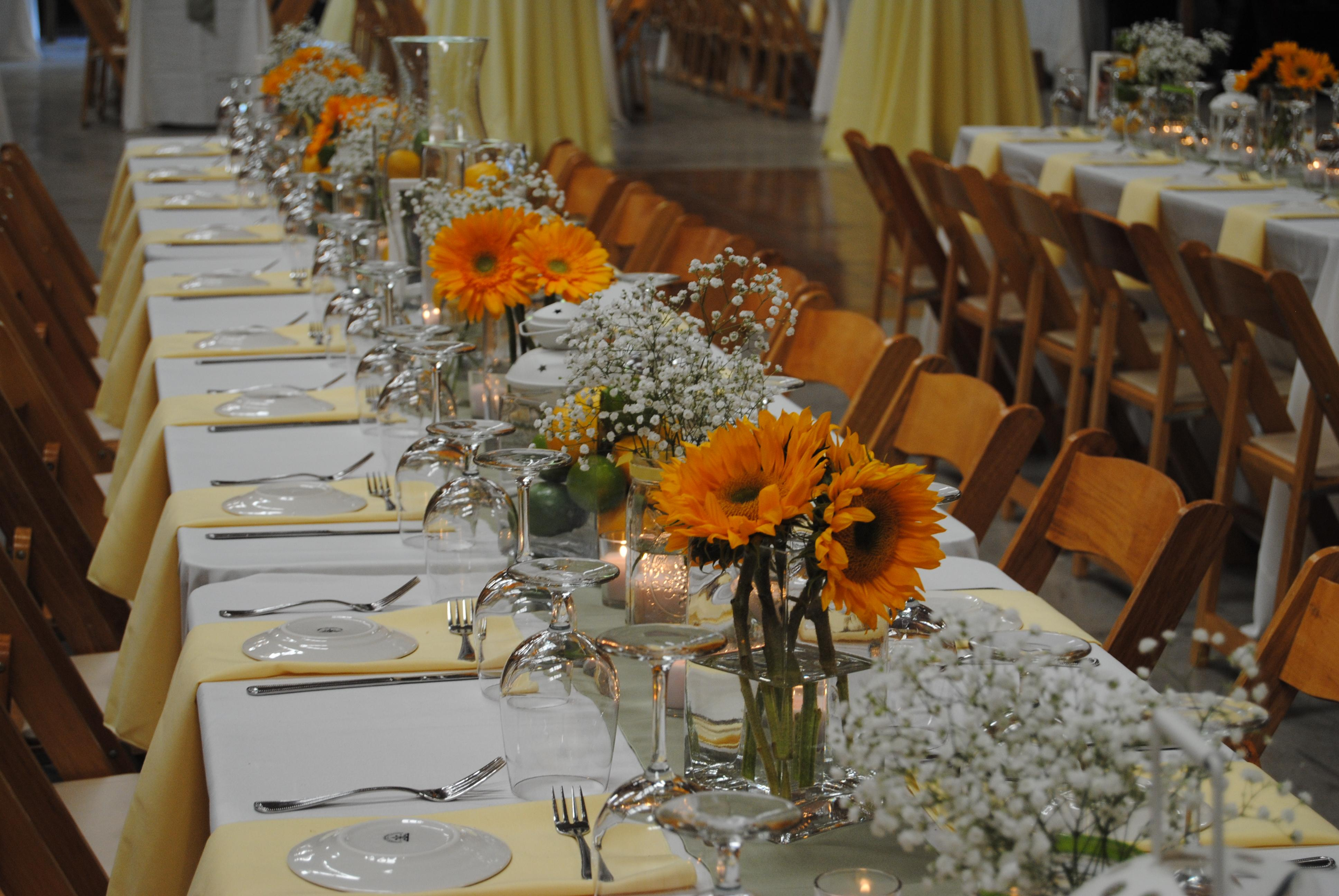 Sunflower Wedding Arrangements