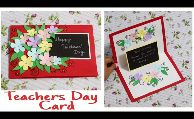 Handmade Teacher's Day Greeting Card
