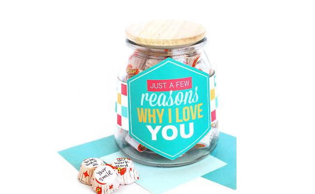 Reasons 'I love You jar'