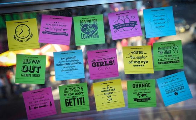 Inspirational Sticky Note Box