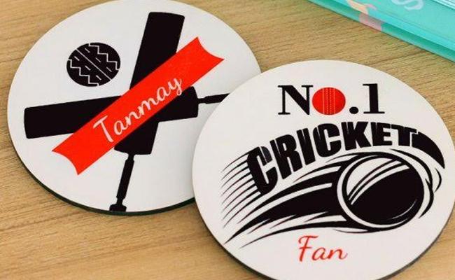 Cricket Fan Coasters