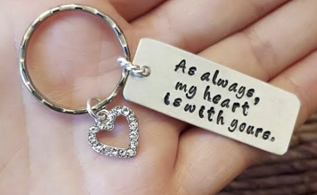Personalised Keychain with a Message