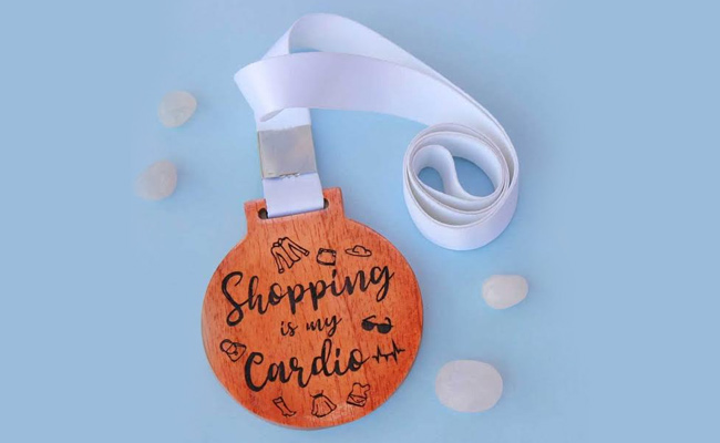 Shopaholic Medal or Trophy