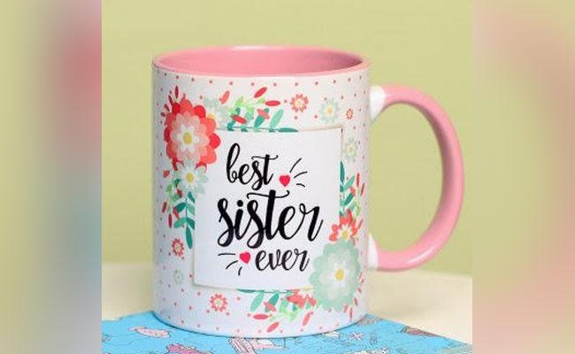 Pink Best Sister Mug
