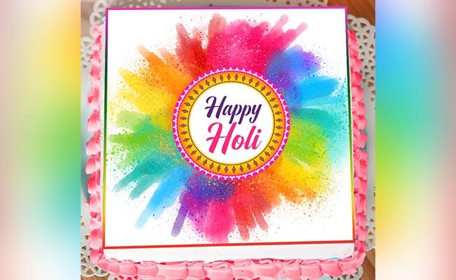 Holi poster cake