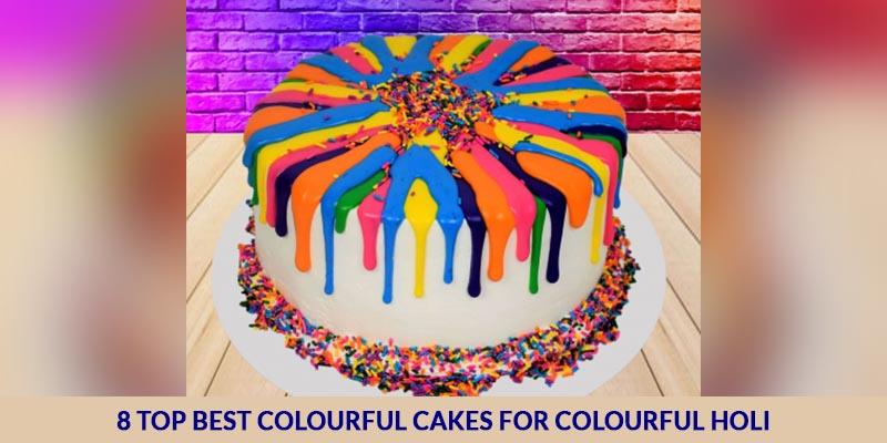 Colourful Cakes for Colourful Holi