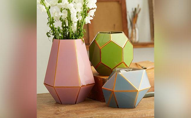 Geometric Shaped Vases