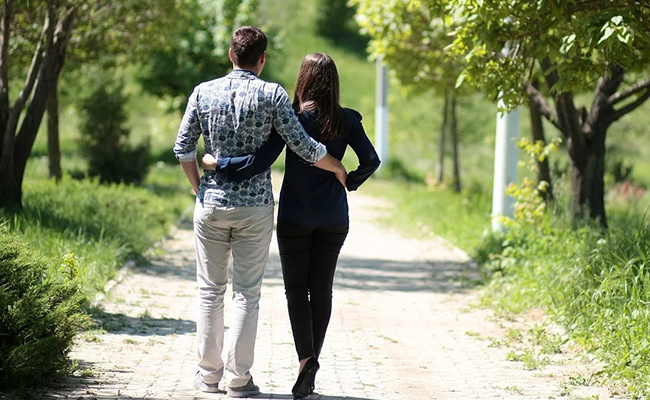 A Morning Walk With Hubby