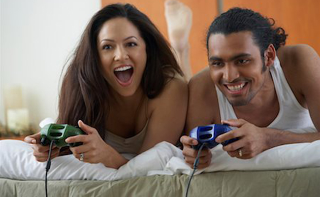 Playing Game with Hubby
