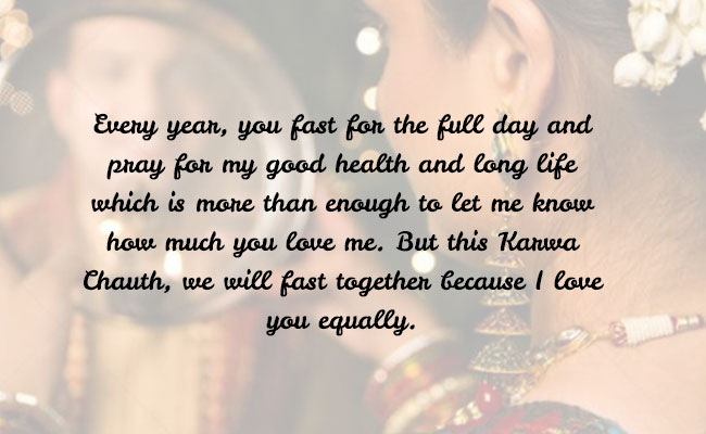 This Karwa Chauth We Will Fast Together