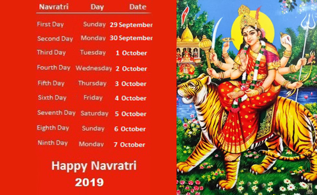 Navratri dates this year