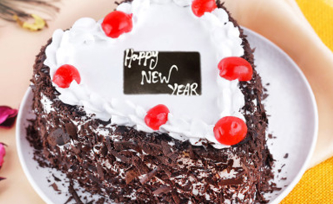 black forest cake for new year
