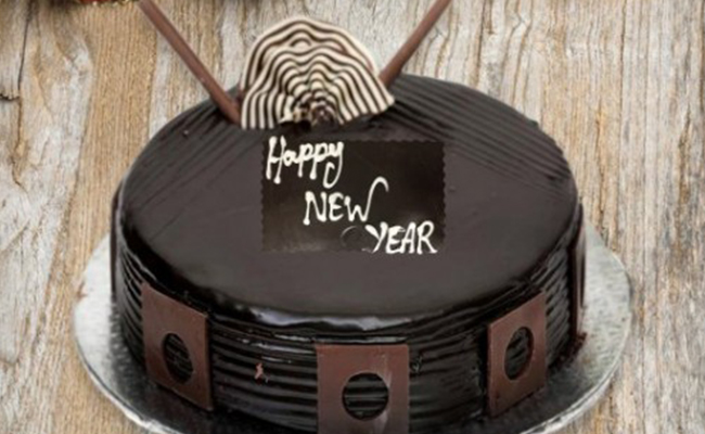 chocolate cake for new year